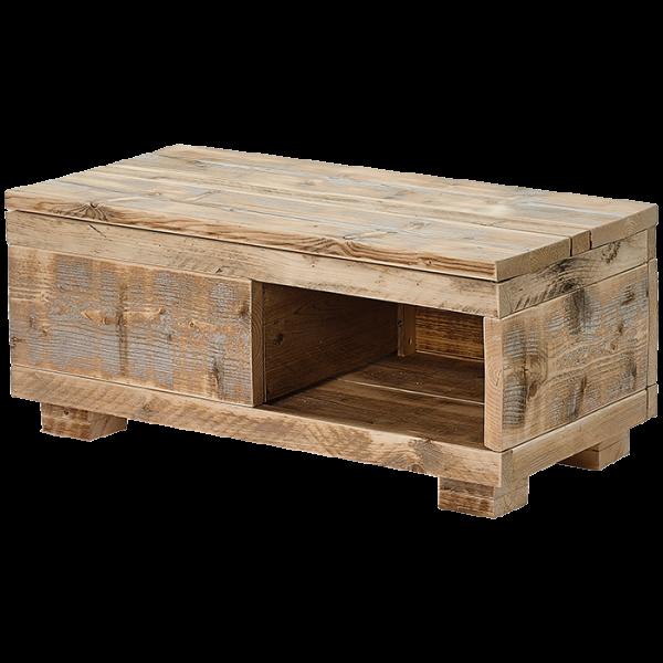 Lounge-Tisch aus Bauholz