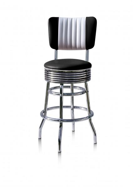 Diner-Barhocker BS 29-66CB schwarz