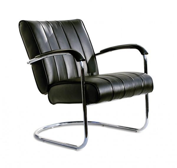 Bel Air Freischwinger Sessel LC-01-LTD schwarz