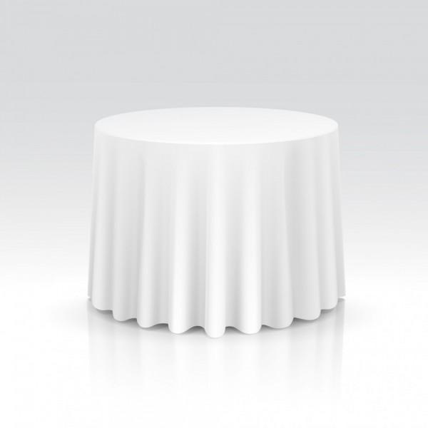 Tischdecke weiß für runde Tische