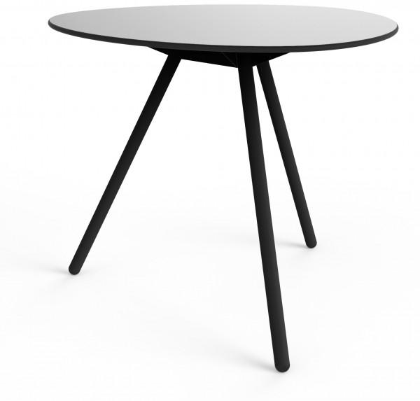 Diner-Tisch a-Lowha grau schwarz