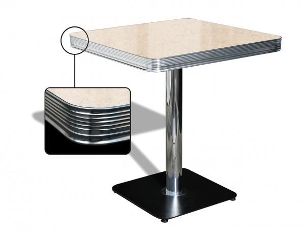 American Diner Tisch TO 23 antik-weiß