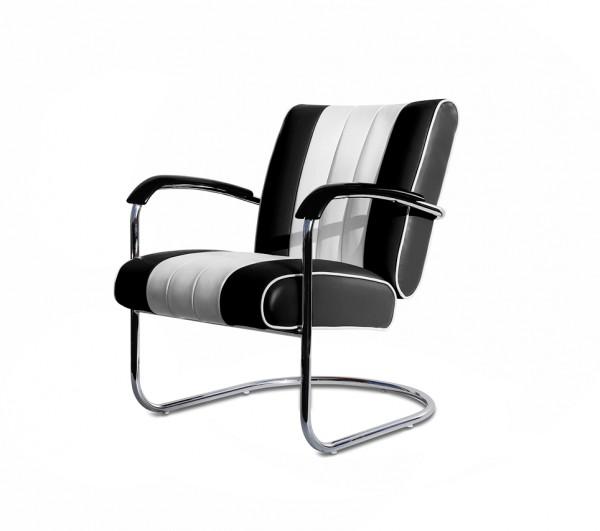 Bel Air Freischwinger Sessel LC-01 schwarz