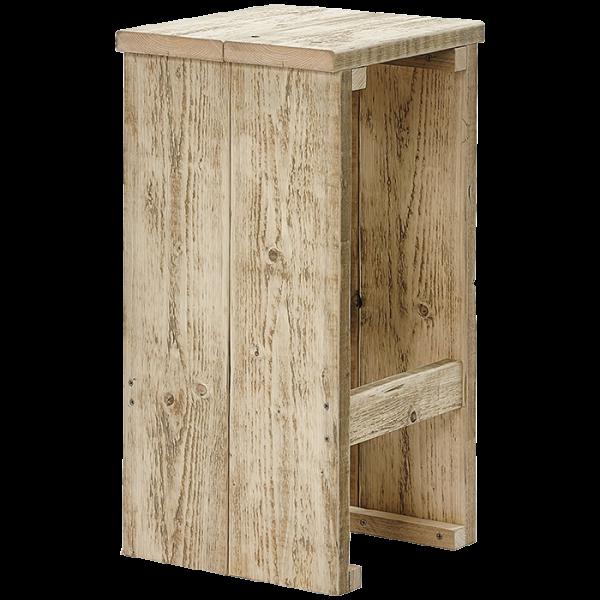 Barhocker aus Bauholz