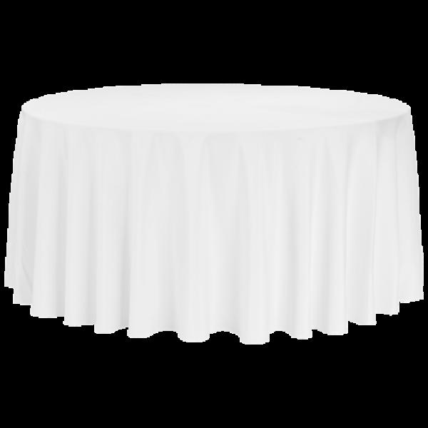 Tischdecke Premium weiß für runde Tische
