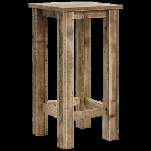 Stehtisch aus Bauholz 80 x 80 cm