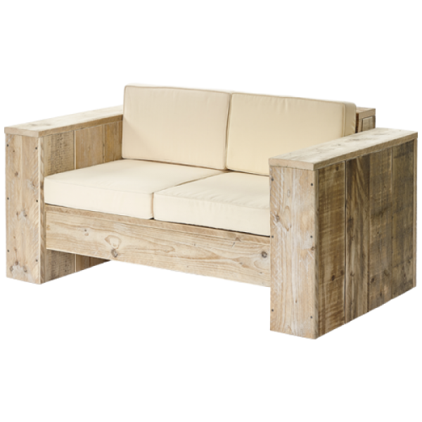 Lounge-Sofa 2-Sitzer Bauholz