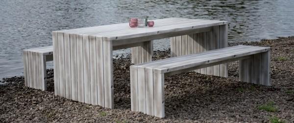 Loungemöbel - Holzbank und Tisch Vancouver