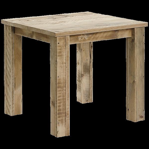 Stollentisch aus Bauholz 80 x 80 cm