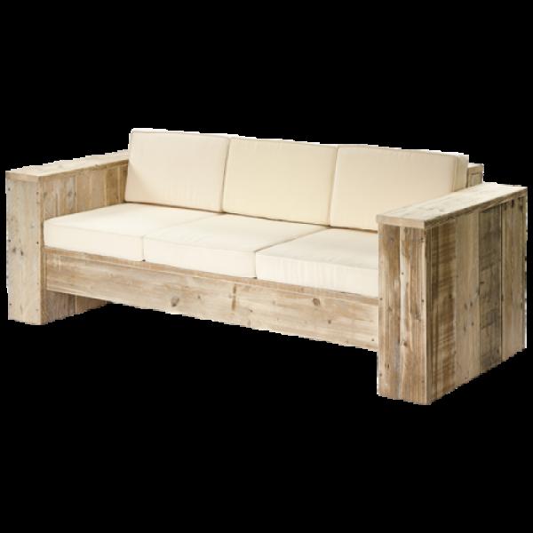 Lounge-Sofa 3-Sitzer Bauholz