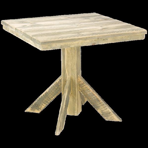 Bauholztisch 90 x 90 cm