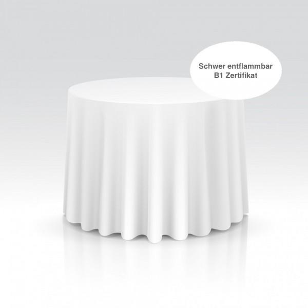 Tischdecke rund schwer entflammbar weiß
