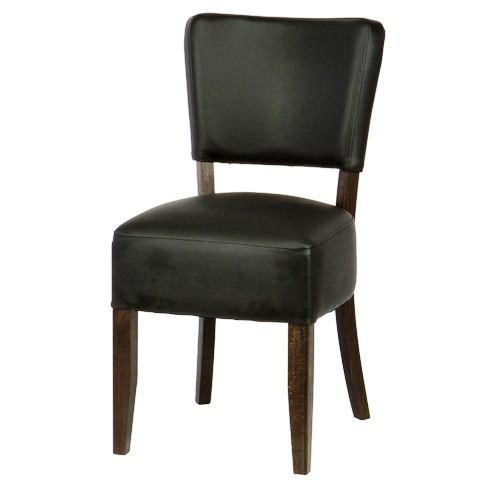 Stuhl Vollpolster schwarz