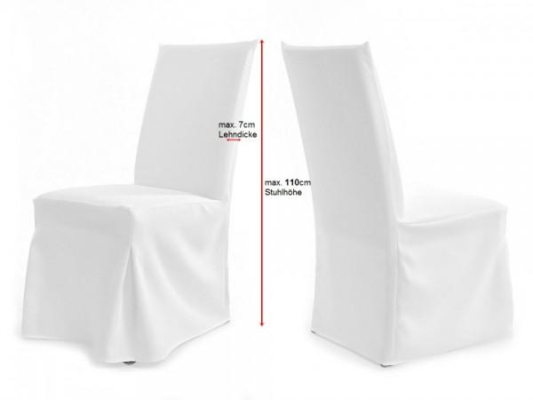 Stuhlhusse weiß XL