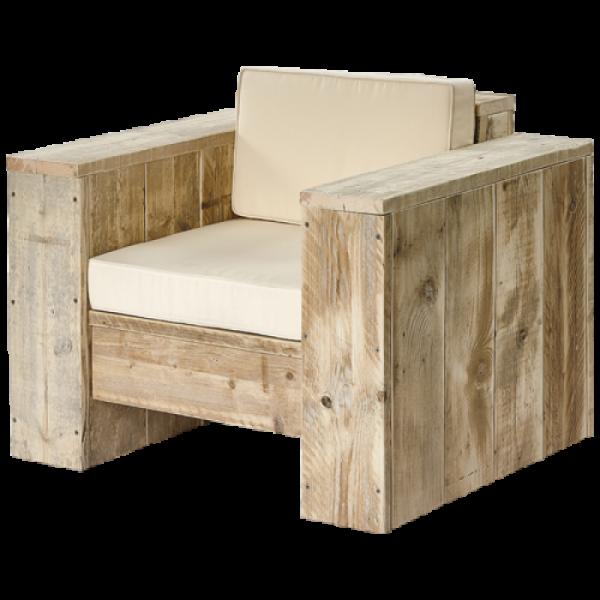 Lounge-Sessel aus massiven Bauholz