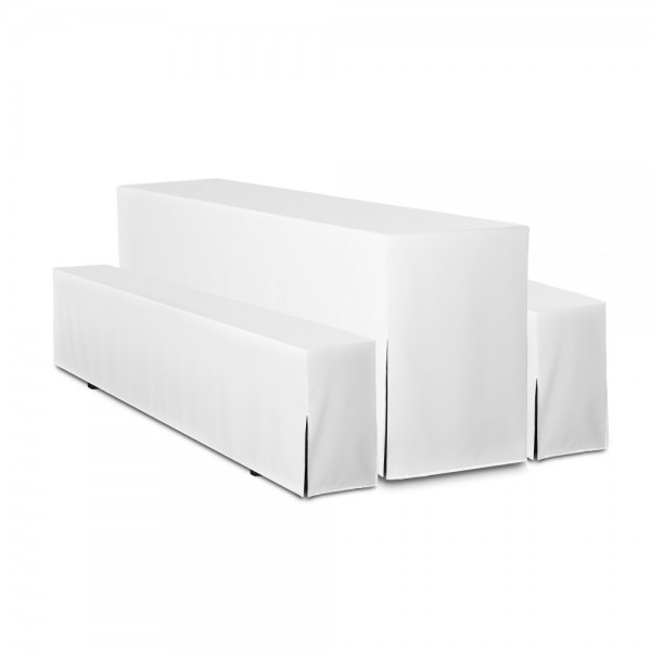 Hussen 3-teilig für Festzeltgarnitur weiß