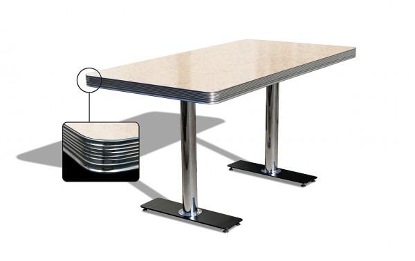 American Diner Tisch TO 25 antik-weiß