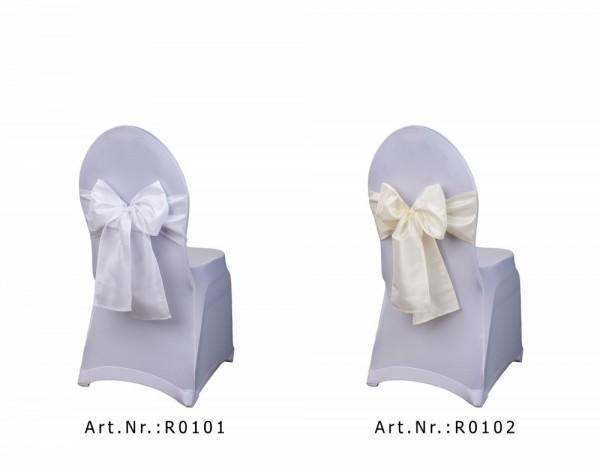 Stuhlschleife weiß und creme
